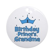 1st Birthday Prince's Grandma Ornament (Round)