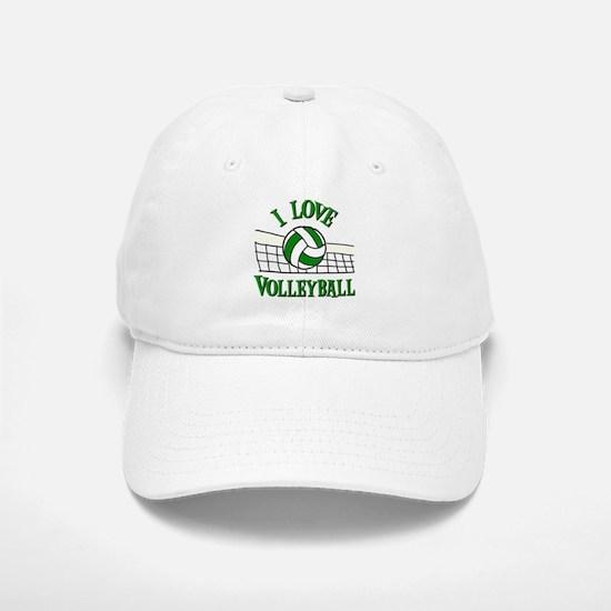 I LOVE VOLLEYBALL Baseball Baseball Cap