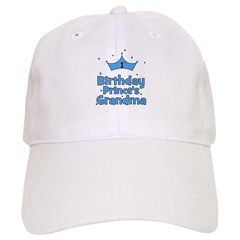 1st Birthday Prince's Grandma Baseball Cap