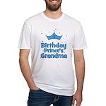 1st Birthday Prince's Grandma Fitted T-Shirt