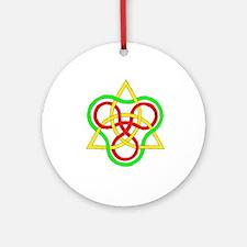 Complex Celtic hexagram Round Ornament