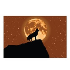 Wolf with Moon Postcards (Package of 8)
