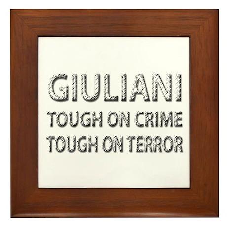 Giuliani tough on terror Framed Tile