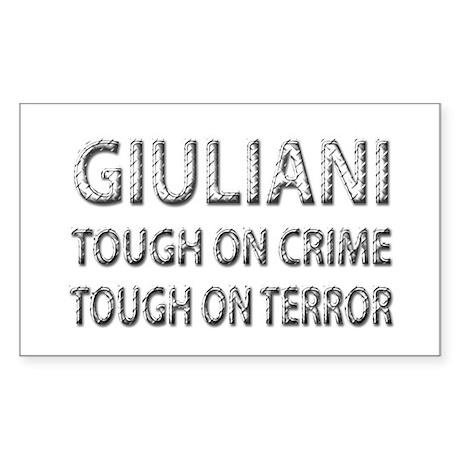 Giuliani tough on terror Rectangle Sticker
