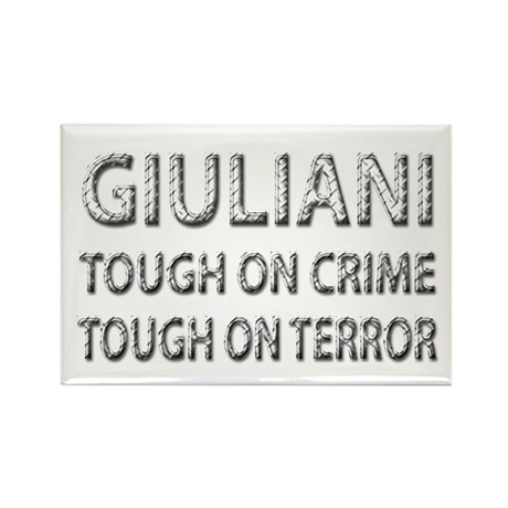 Giuliani tough on terror Rectangle Magnet (10 pack