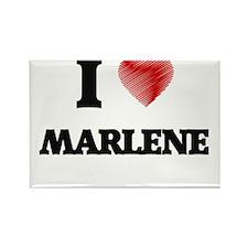 I Love Marlene Magnets
