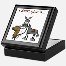 I don't give a... Keepsake Box
