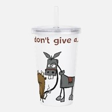 I don't give a... Acrylic Double-wall Tumbler