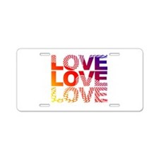 Love-45 Aluminum License Plate