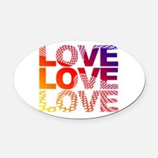 Love-45 Oval Car Magnet