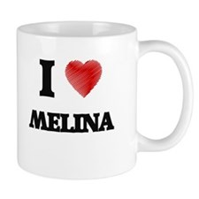 I Love Melina Mugs