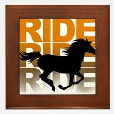 Horse ride Framed Tile