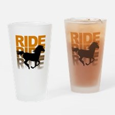 Horse ride Drinking Glass