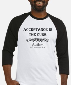 Autism ~ Acceptance is the cure Baseball Jersey