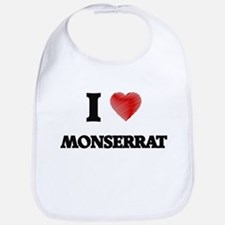 I Love Monserrat Bib