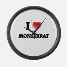 I Love Monserrat Large Wall Clock