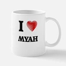 I Love Myah Mugs