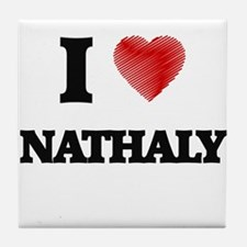I Love Nathaly Tile Coaster