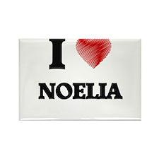 I Love Noelia Magnets
