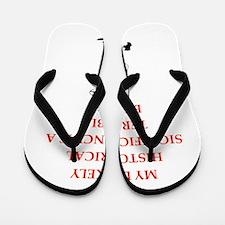 soccer joke Flip Flops