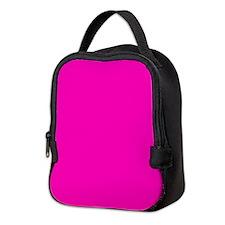 Neon Pink Solid Color Neoprene Lunch Bag