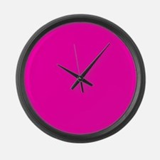 Neon Pink Solid Color Large Wall Clock