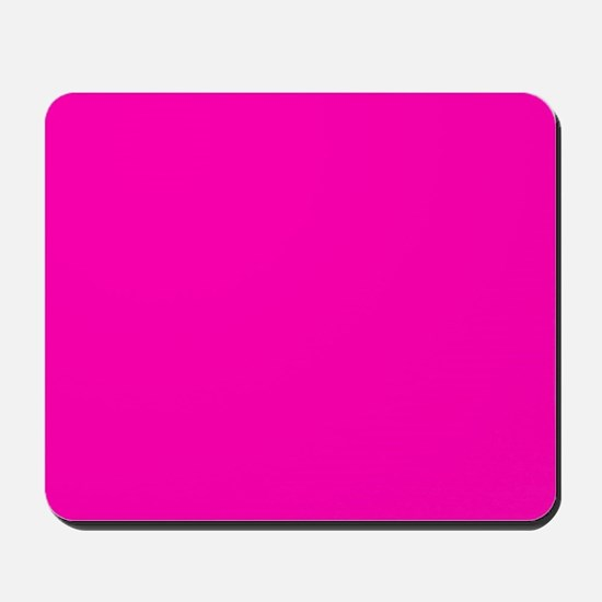 Neon Pink Solid Color Mousepad