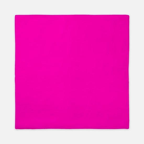 Neon Pink Solid Color Queen Duvet