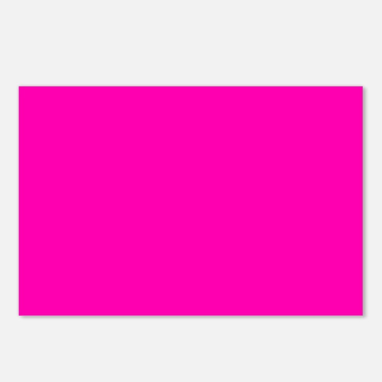 Neon Pink Solid Color Postcards (Package of 8)
