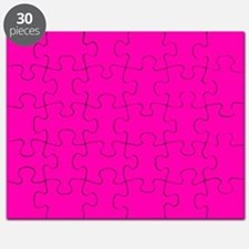 Neon Pink Solid Color Puzzle