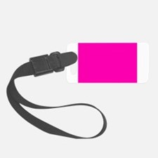 Neon Pink Solid Color Luggage Tag