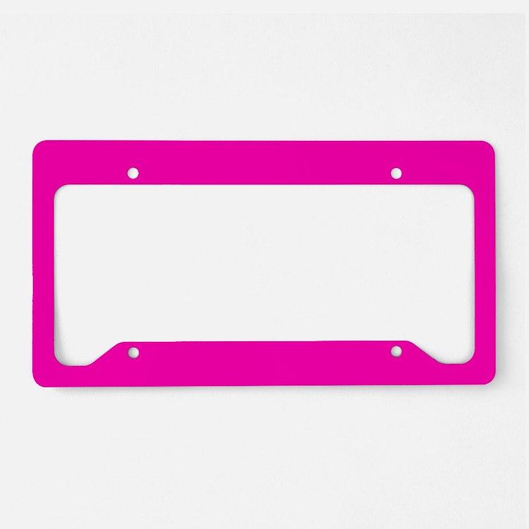 Neon Pink Solid Color License Plate Holder
