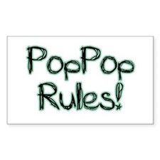 PopPop Rules! Rectangle Decal