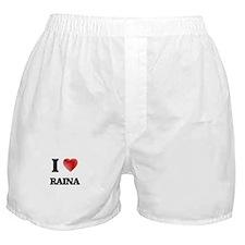 I Love Raina Boxer Shorts