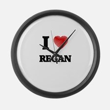 I Love Regan Large Wall Clock