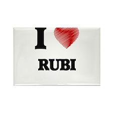 I Love Rubi Magnets