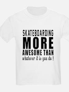 Skateboarding More Awesome Desi T-Shirt
