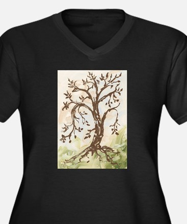 Tree of Contemplation Plus Size T-Shirt