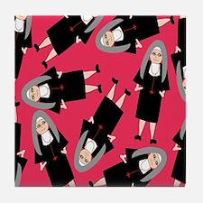 Nuns in Habits Tile Coaster