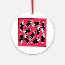 Nuns in Habits Round Ornament