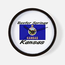 Baxter Springs Kansas Wall Clock