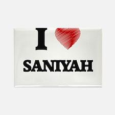 I Love Saniyah Magnets