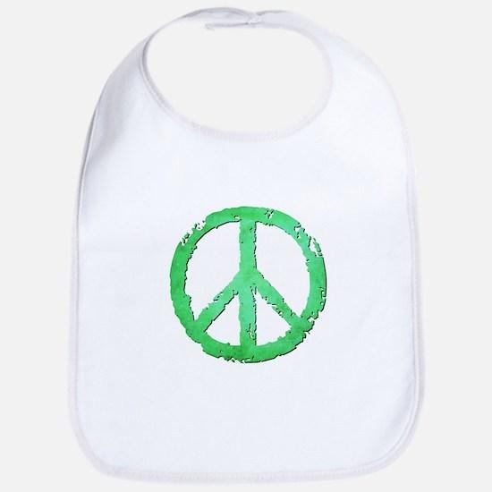 GRUNGY PEACE SIGN Bib