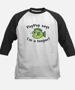 PopPop Says I'm a Keeper Kids Baseball Jersey