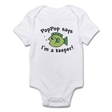 PopPop Says I'm a Keeper Baby Onesie