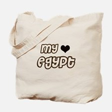 My heart Egypt Tote Bag