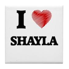 I Love Shayla Tile Coaster