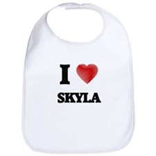 I Love Skyla Bib