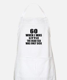 60 When I Was Little Birthday Apron