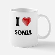 I Love Sonia Mugs